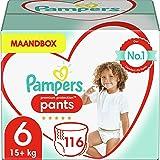 Pampers Maat 6 Premium Protection Luierbroekjes, 116 Stuks, Pampers N°1 Luierbroekjes met Comfortabele Pasvorm en Gemakkelijk