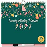 Boxclever Press Family Weekly Planner 2021 2022. Wall Calendar 2021-2022 with 6 Columns. Family Calendar 2021/2022 runs mid-A
