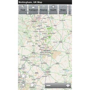 Map Of Uk Nottingham.Nottingham Uk Offline Map Place Stars Amazon Co Uk Appstore For