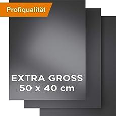 KOMOTO Grillmatte I Extra Groß 50x40 cm I BBQ Grillmatten für Gasgrill & Holzkohle Grill