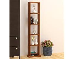 Bluewud Walten Engineered Wood Bookshelf/Display Rack (Walnut)