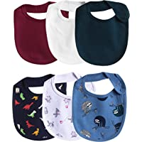 Real Baby 100% Cotton Bibs Pack of 6 for New Borns, Girls, Boys and Infants.(Soft and Absorbent bib/Multicolour)