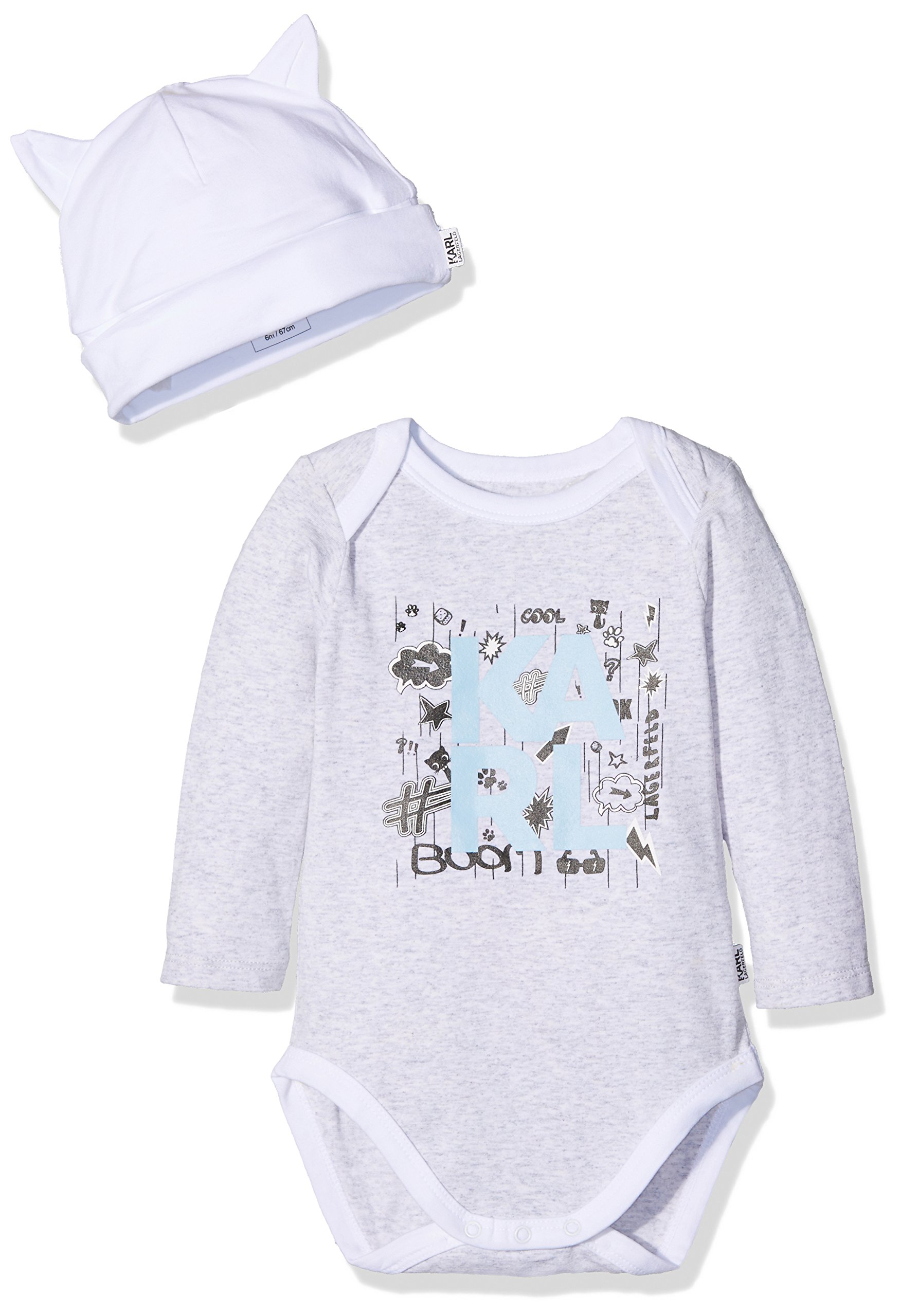 Karl Lagerfeld Ens.Body+Bonnet Body Shaping para Bebés