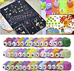 Magicwand DIY Art and Craft Punch Kit for School Projects, Medium (Multicolour) - 12 Pieces