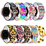 Replacement Compatible for Samsung Galaxy Watch 42mm/Active 2 40mm 44mm/Active 40mm Bands,20mm Silicone Fashion Print Replace