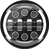 """MONDEVIEW Volledig chromen LED-optiek Voor Motorfietsen 5 3/4"""" Ronde Koplamp CREE 55W 20000LM 6000K+4300K Grootlicht Lentic"""
