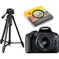 Canon EOS 1500D 24.1 Digital SLR Camera (Black) with EF S18-55 is II Lens, 16GB Card and Carry Case + Digitek DTR 550LW Lightweight Tripod + Kodak 58mm Filter
