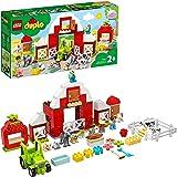 LEGO 10952 DUPLO Town Schuur, Tractor & Boerderij Dierenverzorging voor Peuters, met Figuren van een Paard, Varken en Koe