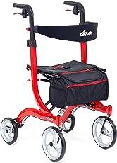 Drive Devilbiss Healthcare Nitro hoch Vier Rädern Premium Rollator vorne mit Rollen, rot