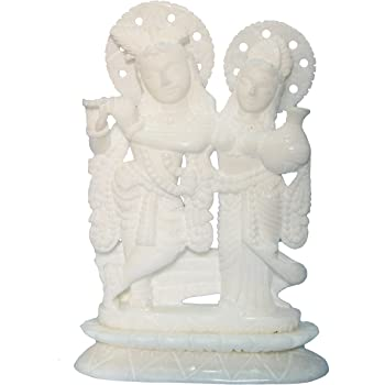 Buy 7 Quot Handcrafted Indian Marble Radha Krishna Idol