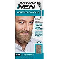 Just for men Moustache & Beard Sandy Blonde Dye , Eliminates Grey for a Thicker & Fuller Look – M10