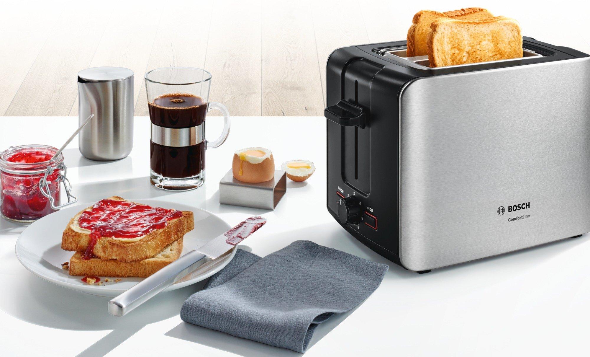 Bosch-TAT6A913-Kompakt-Toaster-ComfortLine-automatische-Brotzentrierung-Auftaufunktion-1090-W-edelstahlschwarz