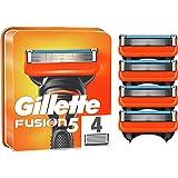 Gillette Fusion 5 Cuchillas de Afeitar Hombre, Paquete de 4 Cuchillas de Recambio