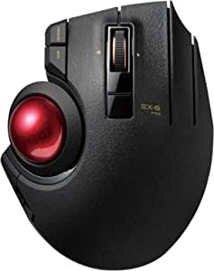 Elecom Wireless M Xpt1mrxbk Trackball Mouse Wired And Ruby Ball Map Bluetooth Gaming High Scroll Extra Large G Pro Black