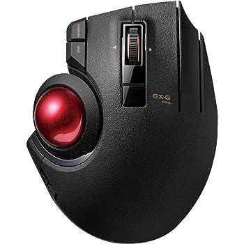 ELECOM M-XPT1MRXBK - Ratón de rastreo (inalámbrico, Bluetooth, Gaming, Bola de Ruby de Alto Rendimiento, 8 Botones Plegables, Desplazamiento Suave, ...
