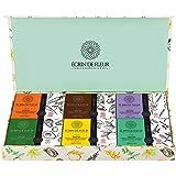 Écrin De Fleur – Magnifique Coffret Cadeau Savons Bio – Lavande, Citron, Menthe, Carotte, Avocat, Chocolat – 6 Savons Artisan