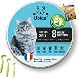 Ubica® Collier Anti Puces pour Chat Naturel Anti Tiques pour Chats – Répulsif – Formule à Base d'Huiles Essentielles de Citro