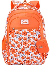 Genie 36 Ltrs Orange School Backpack (CAMELLIA19SBORN)