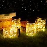Vindany lámparas Solares Exterior - Juego de 4 Luz Solar Jardín Luces de Jardin Solares 30 LED Impermeable Interiores/Exterio