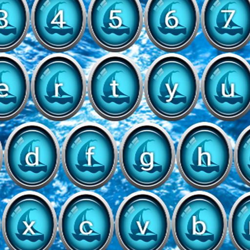 Blaue Seetastaturen - Abdeckung Natürliche