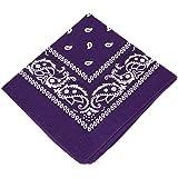 Boolavard 100% Cotone, 1, 6 o 12 Confezioni Bandane con Motivo Paisley Originale | Scelta di Colore Headwear Sciarpa…