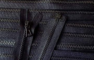 Reißverschluß Kunststoff Krampe teilbar für Jacken 72 cm schwarz