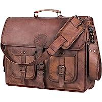 Leder Aktentasche Laptoptasche 18 Zoll handgefertigte Umhängetaschen Best Satchel von KPL
