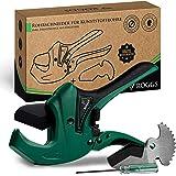 ROGGS® Cortador de tubos de plástico con cuchilla de repuesto de hasta 42 mm de diámetro, cortador de tubos, cortador de tubo