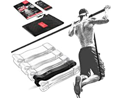 Elastique Musculation Traction Fitness + Guide Exercices, Assist Barre Fixe, Pull Up Bar Dip Bandes de Résistance   Gym Equip