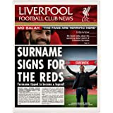 Official Personalised Liverpool FC News Single Page Print