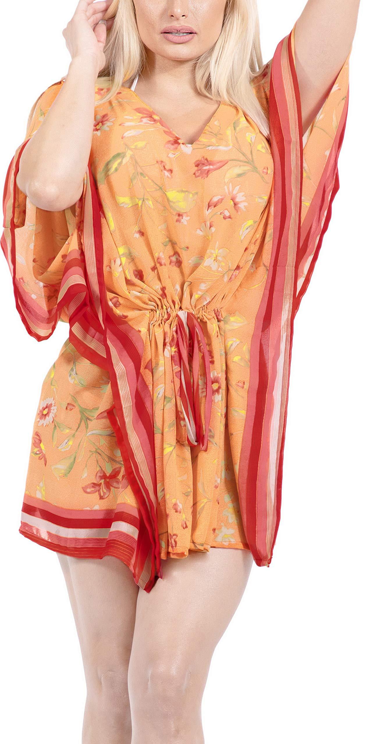 LA LEELA Abito Kimono Abbigliamento Casual Kaftano Top Costume da Bagno Cover up Spiaggia Estiva per Le Donne 1 spesavip