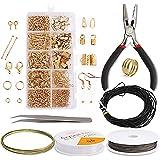 Lvjkes Oorbel Maken Supplies, Sieraden Maken Accessoires Kit, met tang, pincet, Oorbelhaken, Jump Ringen, Oorbellen Maken Rep