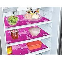 Kuber Industries Santa Claus Print Refrigerator Mat 6 Pcs, PVC Refrigerator Liner Durable Washable Fridges Liner (Pink…