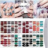 20 vellen nagellak sticker volledige wrap nail art sticker, Kalolary luipaard print zelfklevende nail art sticker strip nagel