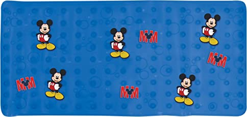 """Disney Mickey Mouse """"Clubhouse Mouse"""" Dimensional Bath Mat, Blue"""
