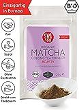 Matcha Oolong Tee - Bio Oolongtee Pulver 108, mit röstiger Note für Latte und Smoothies - Die Nr. 1 in Europa [Organic High Mountain Matcha Oolong Tea - Roasty Taste 28g]