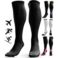 Compression Socks for Men & Women (20-30 mmHg) - Shin Splints Calf Pressure Support, Anti DVT Flight Travel Stockings…