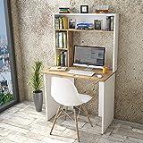 Yurupa Table de Bureau avec Etagere,Bureau avec étagère,Bureau d'ordinateur,Meuble Bureau Ordinateur,Bureau Informatique,Tabl