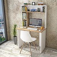 Yurupa Table de Bureau avec Etagere,Bureau avec étagère,Bureau d'ordinateur,Meuble Bureau Ordinateur,Bureau Informatique…