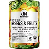 Bigmuscles Nutrition Superfood Greens & Fruits 20 Servings | Original Flavour | Organic Spirulina & Wheat Grass - Whole Food
