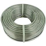 Novaliv Aluminiumdraad Ø 3 mm I ambachtelijke draad zilver I aluminium draad om te knutselen bloemendraad metaaldraad buigdra