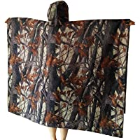 Yesloo Poncho impermeabile extra-lungo multifunzionale 3-in-1, impermeabile unisex, tappetino per tenda, telo parasole…