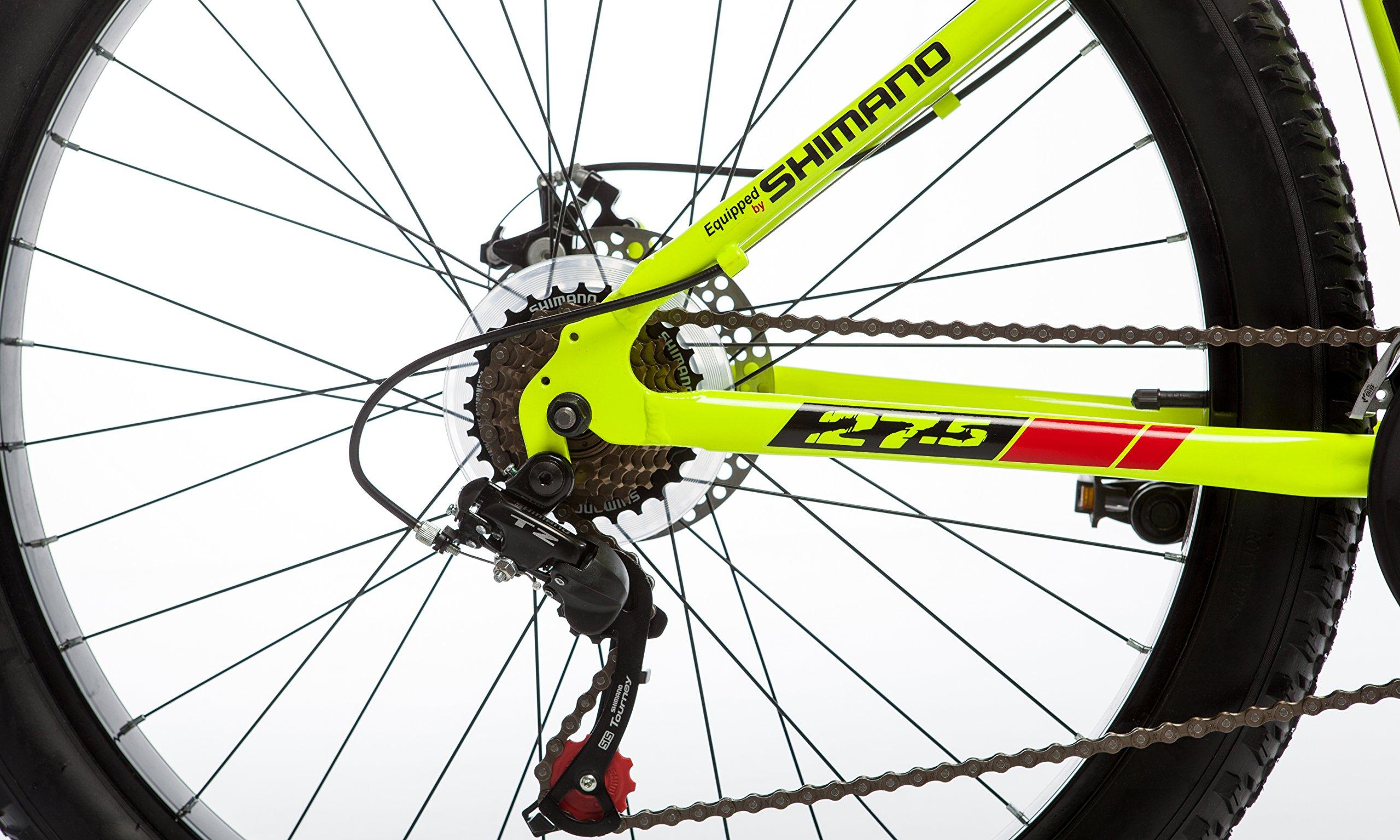 """Moma Bikes Bicicletta Mountain Bike Plus, Tipo: 27,5""""BTT, Cambio a Shimano 21velocità Alluminio, Freni a Disco e Sospensione"""