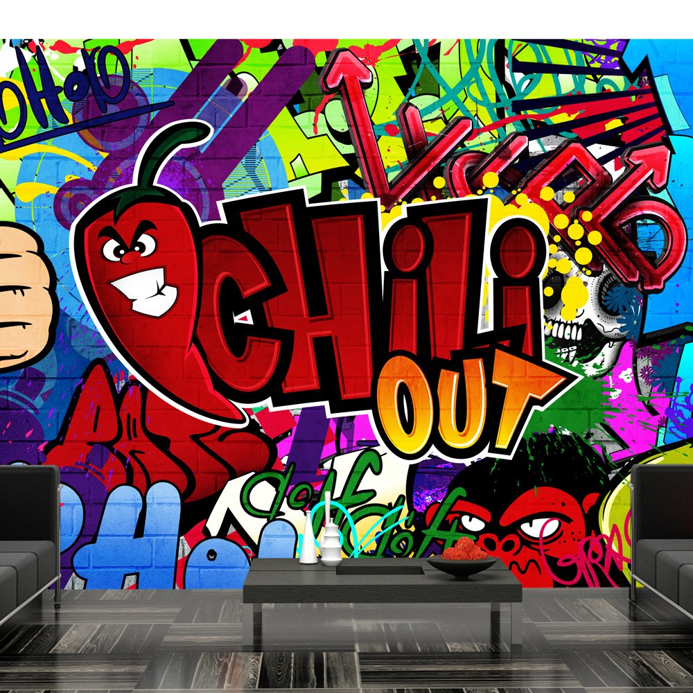 Wallpaper 400x280 Cm   Non Woven   Murals   Wall   Mural   Photo   3D    Modern   Graffiti 10110905 11: Amazon.co.uk: DIY U0026 Tools Part 14