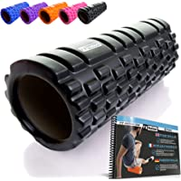 Fit Nation Foam Roller for Muscle Massage with Exercise Book, Ultra Lightweight Hollow Core Muscle Roller for Deep Pain…
