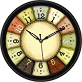 Divinecrafts-Plastic 10 inch Round Sweep Movement-Wall Clock( No TIK TIK Noise )