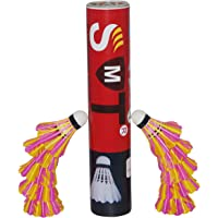 SMT Badminton Shuttlecock Pack of 10 Feather Shuttle Cock