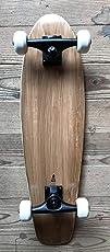 Ovalboards Der Flippige Kicktail 68 cm Longboard Skateboard weiße Wheels Schwarze Trucks