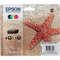 Epson C13T03U64010 Approprié pour XP-2100/2105/3100/3105/4100/4105 Encre Multipack 603 - Noir/Cyan/Magenta-Jaune - 10,6…