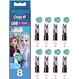 Oral-B Kids Opsteekborstels voor elektrische tandenborstel, 8 stuks, voor kinderen vanaf 3 jaar, extra zachte borstelharen, F